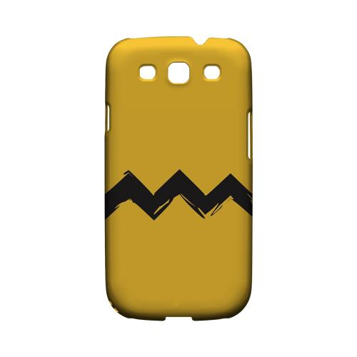 Yellow Good Grief! Geeks Designer Line Zig Zag Series Matte Hard Case for Samsung Galaxy S3