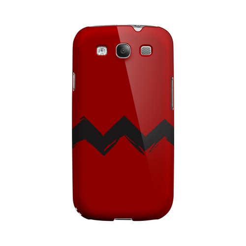 Red Good Grief! Geeks Designer Line Zig Zag Series Matte Hard Case for Samsung Galaxy S3
