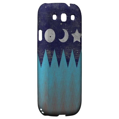 Sun Moon Star Geeks Designer Line Zig Zag Series Matte Hard Case for Samsung Galaxy S3