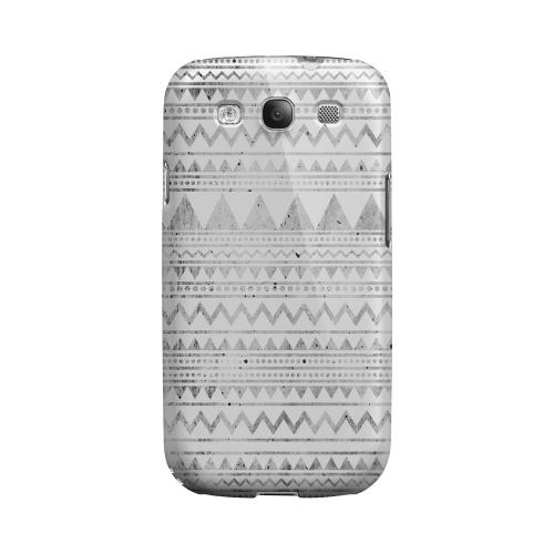 Grungy Triangles Geeks Designer Line Zig Zag Series Matte Hard Case for Samsung Galaxy S3