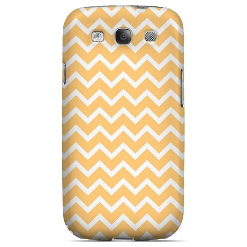 White on Light Orange Geeks Designer Line Zig Zag Series Matte Hard Case for Samsung Galaxy S3