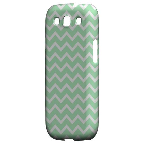 White on Mint Geeks Designer Line Zig Zag Series Matte Hard Case for Samsung Galaxy S3