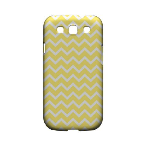 White on Yellow Geeks Designer Line Zig Zag Series Matte Hard Case for Samsung Galaxy S3