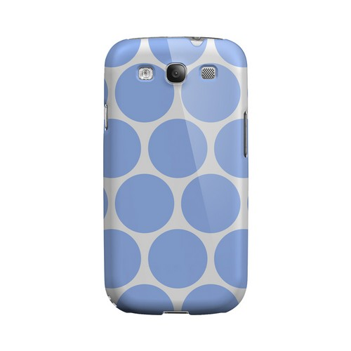 Big & Sky Blue Geeks Designer Line Polka Dot Series Matte Hard Case for Samsung Galaxy S3