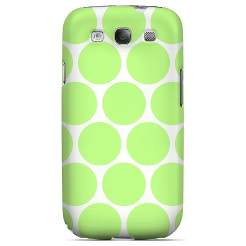Big & Lime Green Geeks Designer Line Polka Dot Series Matte Hard Case for Samsung Galaxy S3