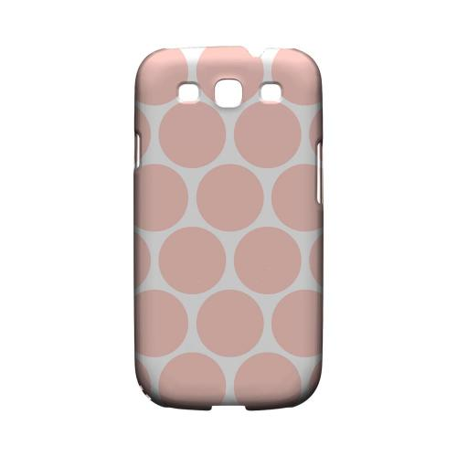 Big & Baby Pink Geeks Designer Line Polka Dot Series Matte Hard Case for Samsung Galaxy S3