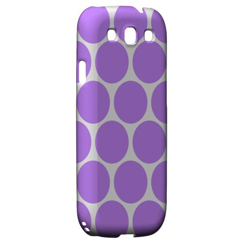 Big & Purple Geeks Designer Line Polka Dot Series Matte Hard Case for Samsung Galaxy S3