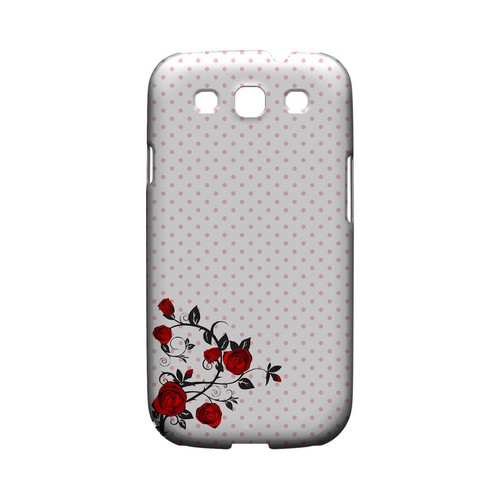 Rose Vine Geeks Designer Line Polka Dot Series Matte Hard Case for Samsung Galaxy S3