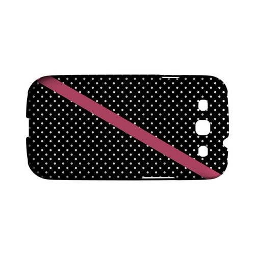 Pink Diagonal Stripe Geeks Designer Line Polka Dot Series Matte Hard Case for Samsung Galaxy S3
