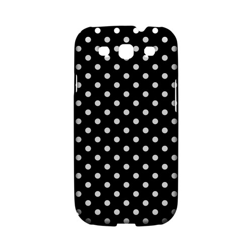 White Dots on Black Geeks Designer Line Polka Dot Series Matte Hard Case for Samsung Galaxy S3