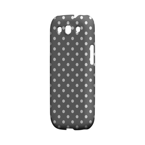 White Dots on Gray Geeks Designer Line Polka Dot Series Matte Hard Case for Samsung Galaxy S3