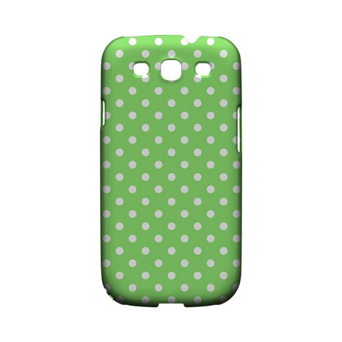 White Dots on Green Geeks Designer Line Polka Dot Series Matte Hard Case for Samsung Galaxy S3