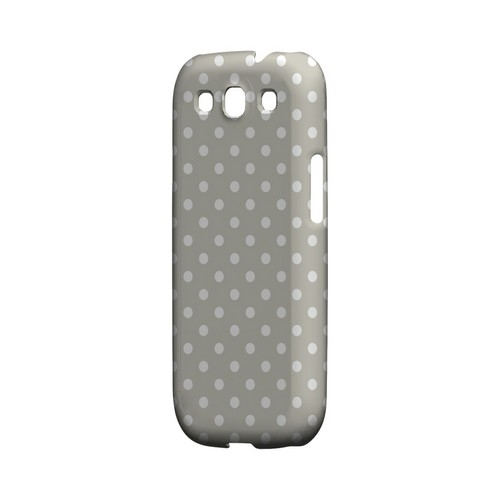 White Dots on Khaki Geeks Designer Line Polka Dot Series Matte Hard Case for Samsung Galaxy S3