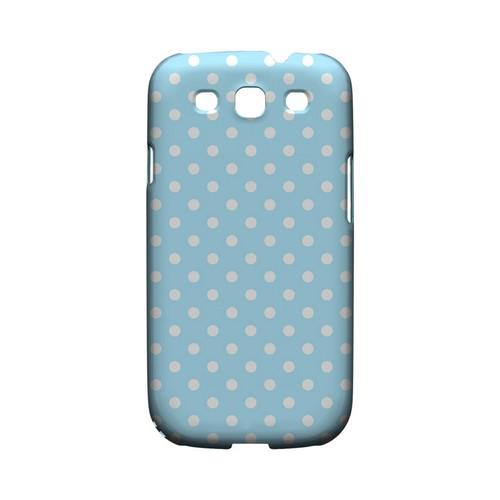 White Dots on Sky Blue Geeks Designer Line Polka Dot Series Matte Hard Case for Samsung Galaxy S3