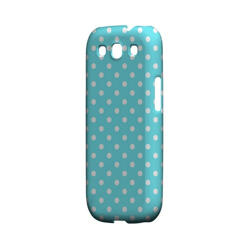 White Dots on Turquoise Geeks Designer Line Polka Dot Series Matte Hard Case for Samsung Galaxy S3
