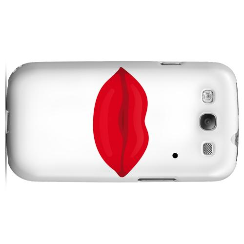 Glamour Lips Geeks Designer Line Heart Series Matte Hard Case for Samsung Galaxy S3