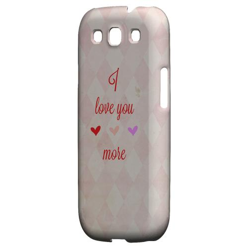 I Love You More Geeks Designer Line Heart Series Matte Hard Case for Samsung Galaxy S3