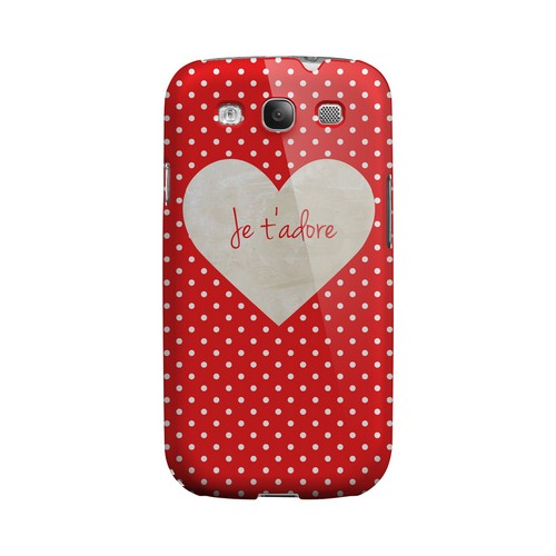 Je t'adore Geeks Designer Line Heart Series Matte Hard Case for Samsung Galaxy S3