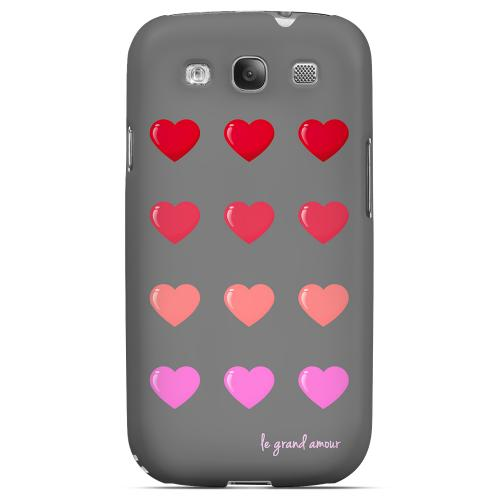 Le Grand Amour Geeks Designer Line Heart Series Matte Hard Case for Samsung Galaxy S3