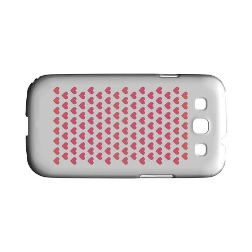 Miniature Hearts Geeks Designer Line Heart Series Matte Hard Case for Samsung Galaxy S3