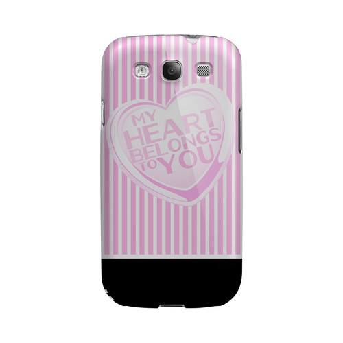 My Heart Geeks Designer Line Heart Series Matte Hard Case for Samsung Galaxy S3