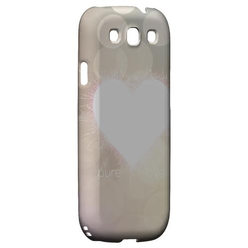Pure Love Geeks Designer Line Heart Series Matte Hard Case for Samsung Galaxy S3