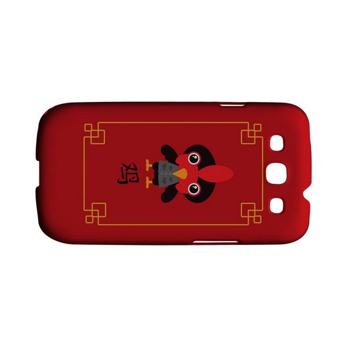 Chibi Rooster Geeks Designer Line Chinese Horoscope Series Matte Hard Case for Samsung Galaxy S3