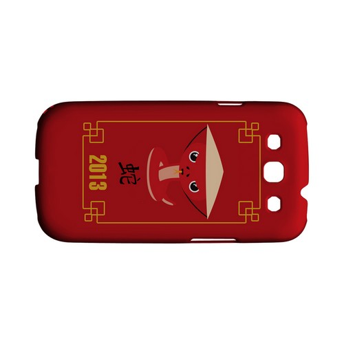 Chibi Snake Geeks Designer Line Chinese Horoscope Series Matte Hard Case for Samsung Galaxy S3