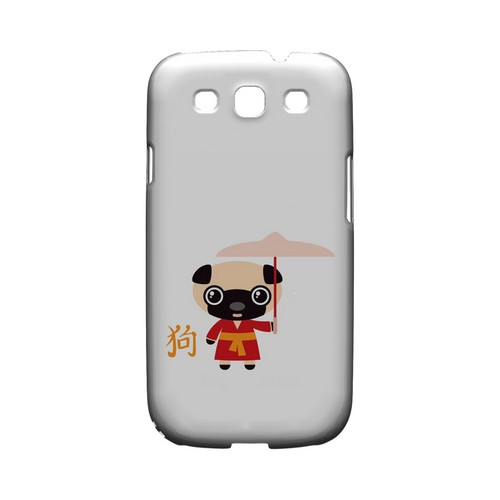 Dog on White Geeks Designer Line Chinese Horoscope Series Matte Hard Case for Samsung Galaxy S3