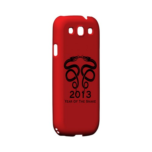 Dual Snake on Red Geeks Designer Line Chinese Horoscope Series Matte Hard Case for Samsung Galaxy S3