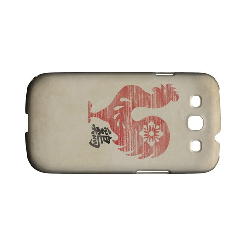 Grunge Rooster Geeks Designer Line Chinese Horoscope Series Matte Hard Case for Samsung Galaxy S3