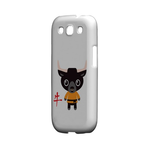 Ox on White Geeks Designer Line Chinese Horoscope Series Matte Hard Case for Samsung Galaxy S3
