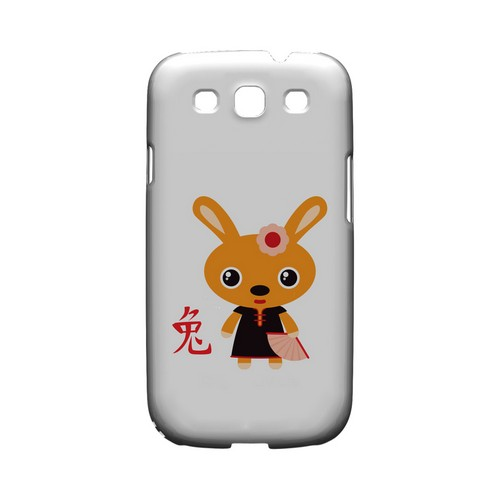 Rabbit on White Geeks Designer Line Chinese Horoscope Series Matte Hard Case for Samsung Galaxy S3