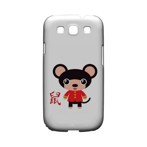 Rat on White Geeks Designer Line Chinese Horoscope Series Matte Hard Case for Samsung Galaxy S3