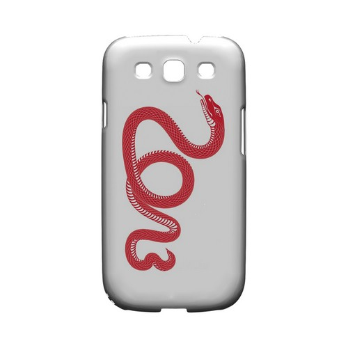 Red Snake Geeks Designer Line Chinese Horoscope Series Matte Hard Case for Samsung Galaxy S3