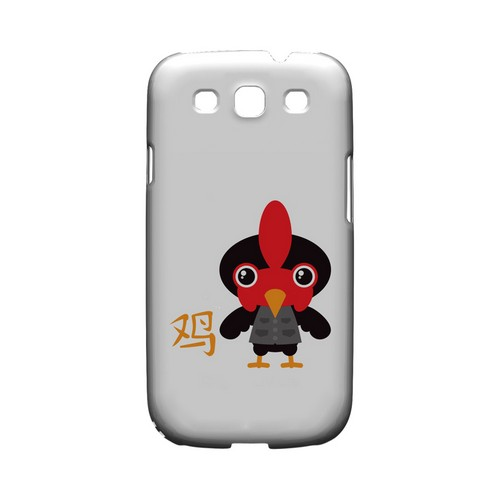Rooster on White Geeks Designer Line Chinese Horoscope Series Matte Hard Case for Samsung Galaxy S3