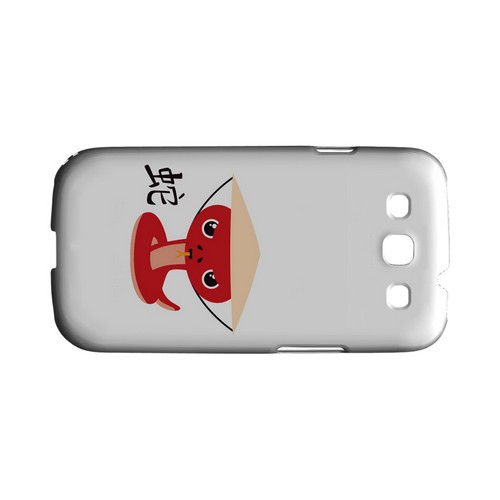 Snake on White Geeks Designer Line Chinese Horoscope Series Matte Hard Case for Samsung Galaxy S3