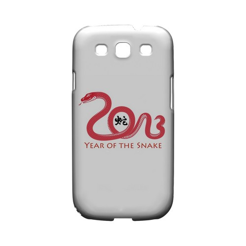 Red Year of the Snake Geeks Designer Line Chinese Horoscope Series Matte Hard Case for Samsung Galaxy S3