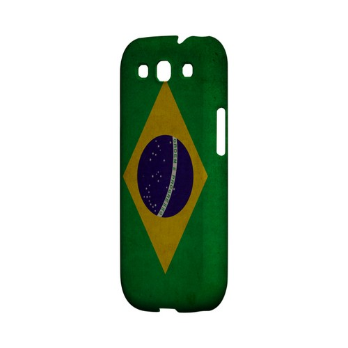 Grunge Brazil Geeks Designer Line Flag Series Matte Hard Case for Samsung Galaxy S3