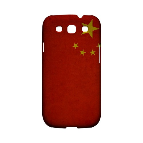 Grunge China Geeks Designer Line Flag Series Matte Hard Case for Samsung Galaxy S3