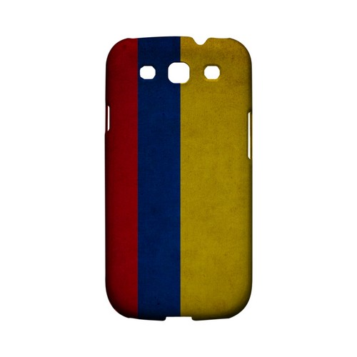 Grunge Colombia Geeks Designer Line Flag Series Matte Hard Case for Samsung Galaxy S3