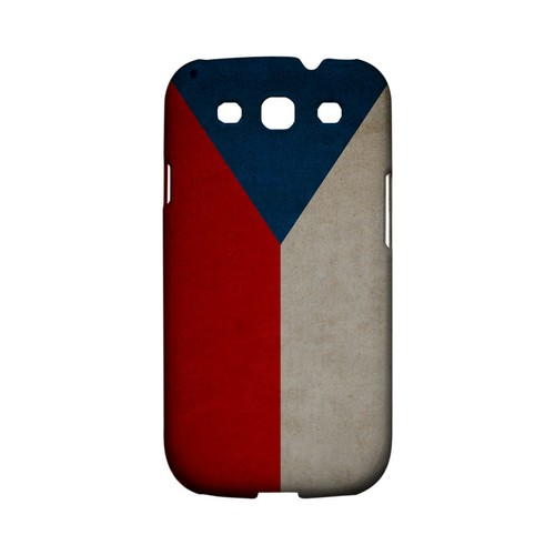 Grunge Czech Republic Geeks Designer Line Flag Series Matte Hard Case for Samsung Galaxy S3