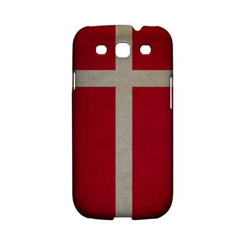 Grunge Denmark Geeks Designer Line Flag Series Matte Hard Case for Samsung Galaxy S3