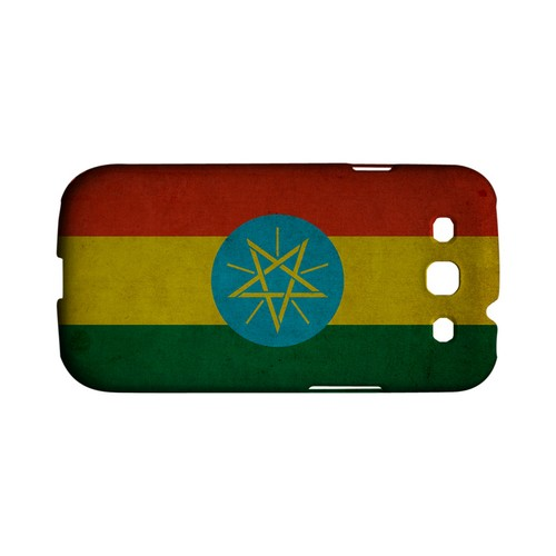 Grunge Ethiopia Geeks Designer Line Flag Series Matte Hard Case for Samsung Galaxy S3
