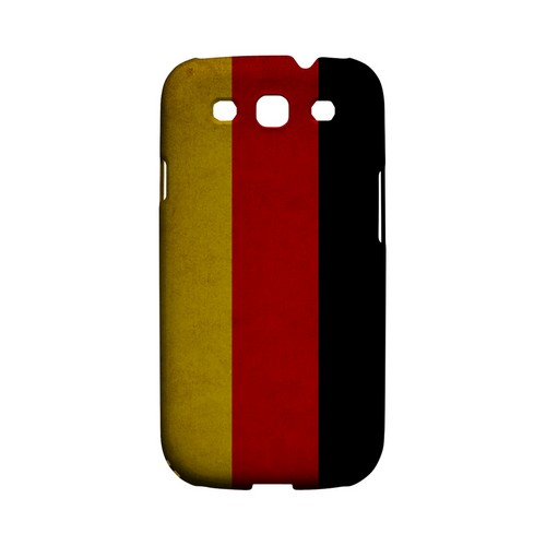 Grunge Germany Geeks Designer Line Flag Series Matte Hard Case for Samsung Galaxy S3