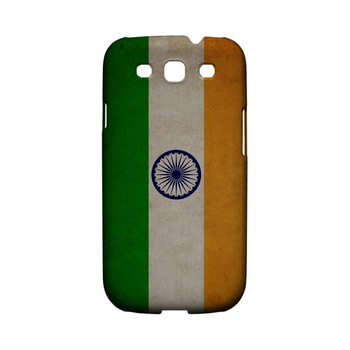 Grunge India Geeks Designer Line Flag Series Matte Hard Case for Samsung Galaxy S3