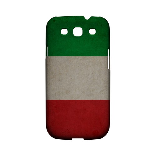 Grunge Italy Geeks Designer Line Flag Series Matte Hard Case for Samsung Galaxy S3