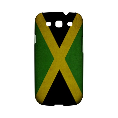 Grunge Jamaica Geeks Designer Line Flag Series Matte Hard Case for Samsung Galaxy S3