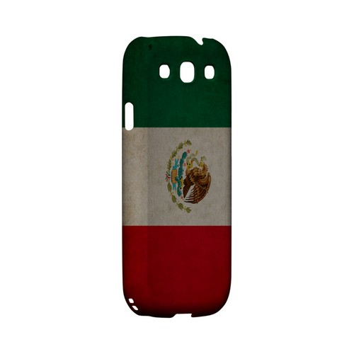 Grunge Mexico Geeks Designer Line Flag Series Matte Hard Case for Samsung Galaxy S3