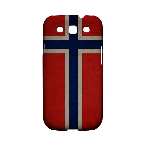 Grunge Norway Geeks Designer Line Flag Series Matte Hard Case for Samsung Galaxy S3